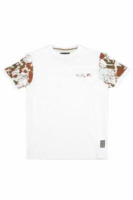 A. Tiziano Terrell Short Sleeve Bubble Knit Crew-neck T-Shirt