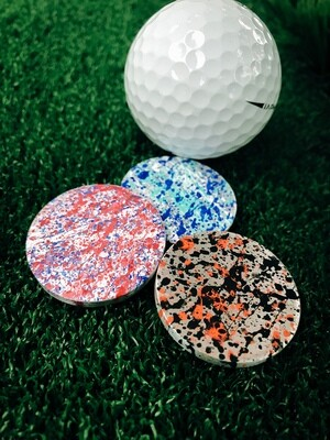 Splatter Paint Custom Ball Marker