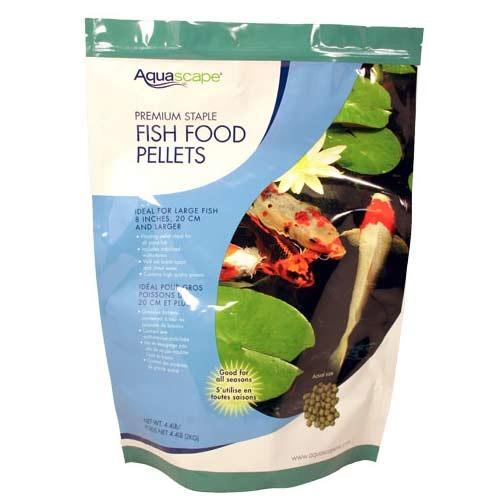 Aquascape premium staple fish food pellets 20 kg for Pond fish stocking calculator
