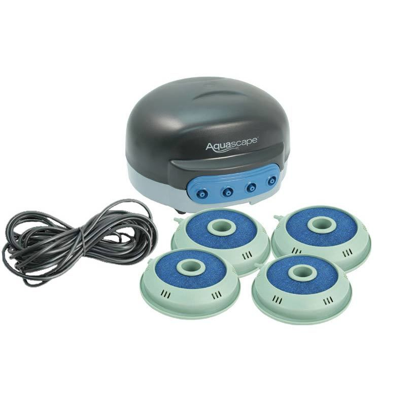 Aquascape 4 outlet pond aerator small pond aeration kits for Small pond equipment