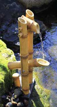Deer Scarer Bamboo Fountian With Pump by Aquascape