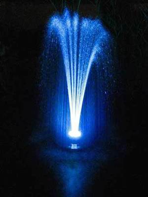 Floating Pond Fountain With Colour Changing LED's - Small