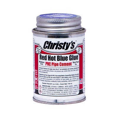 Christy's Red Hot Blue Glue PVC Cement