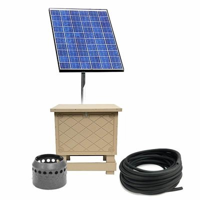 Solar Pond Aeration System with Battery Backup - Up to 1 Acre