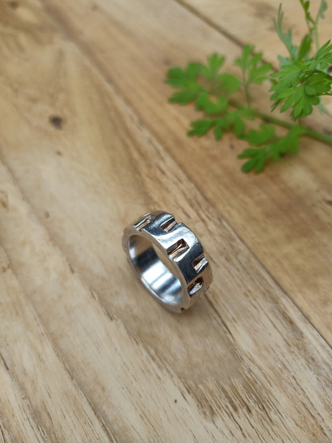 Sterling Silver Chunky Statement Ring - US 6.5, Aus M 1/2
