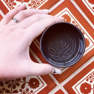 Custom CIELO ROJO ceramic mezcal copita