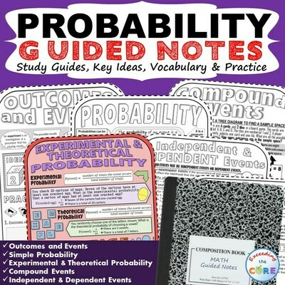 PROBABILITY Doodle Math - Interactive Notebooks (Guided Notes)