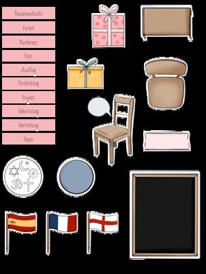 Sticker go digital Lehrerplaner pink