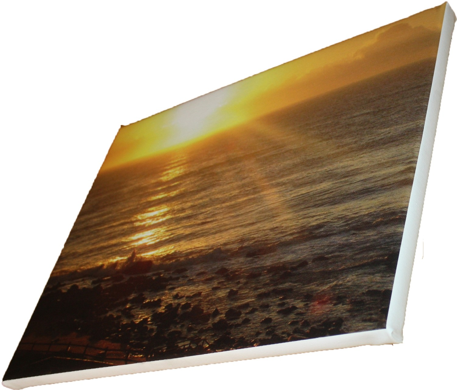 A0 1189 x 841mm Cotton Photo Canvas Print Blocked on 40mm Frame