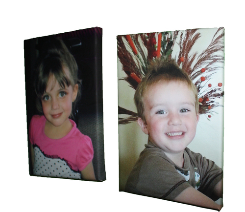 300 x 300mm Cotton Photo Canvas Blocked on 40mm Frame