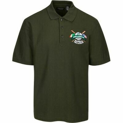 Irish American Baseball Hall of Fame Cotton Dark Green Polo by Ultra Club