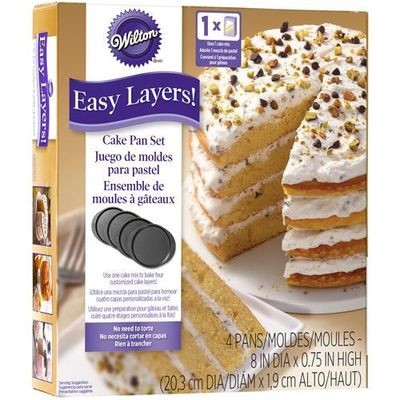Wilton Baking Pans -EASY LAYERS -20εκ -Σετ με 4 Ταψιά