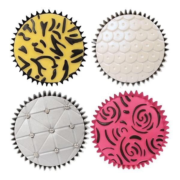 Cake Star Texture Mats -FASHION - Σετ 6 τεμ Ανάγλυφα Πατάκια με θέμα Μόδα