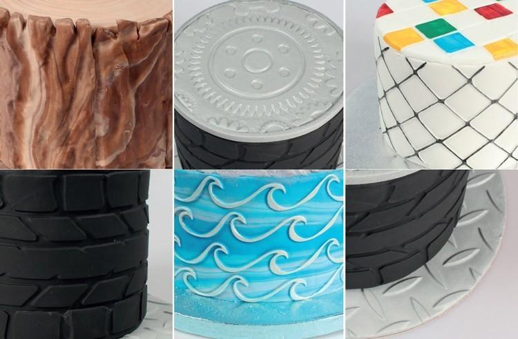 Cake Star Texture Mats -OUTDOOR ADVENTURES -Σετ 6 τεμ Ανάγλυφα Πατάκια με θέμα την Ύπαιθρο.