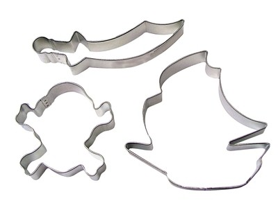 By AH -Set of 3 Cookie Cutters -PIRATE SHIP - Σετ 3 τεμ Κουπ πατ Πειρατικό Καράβι