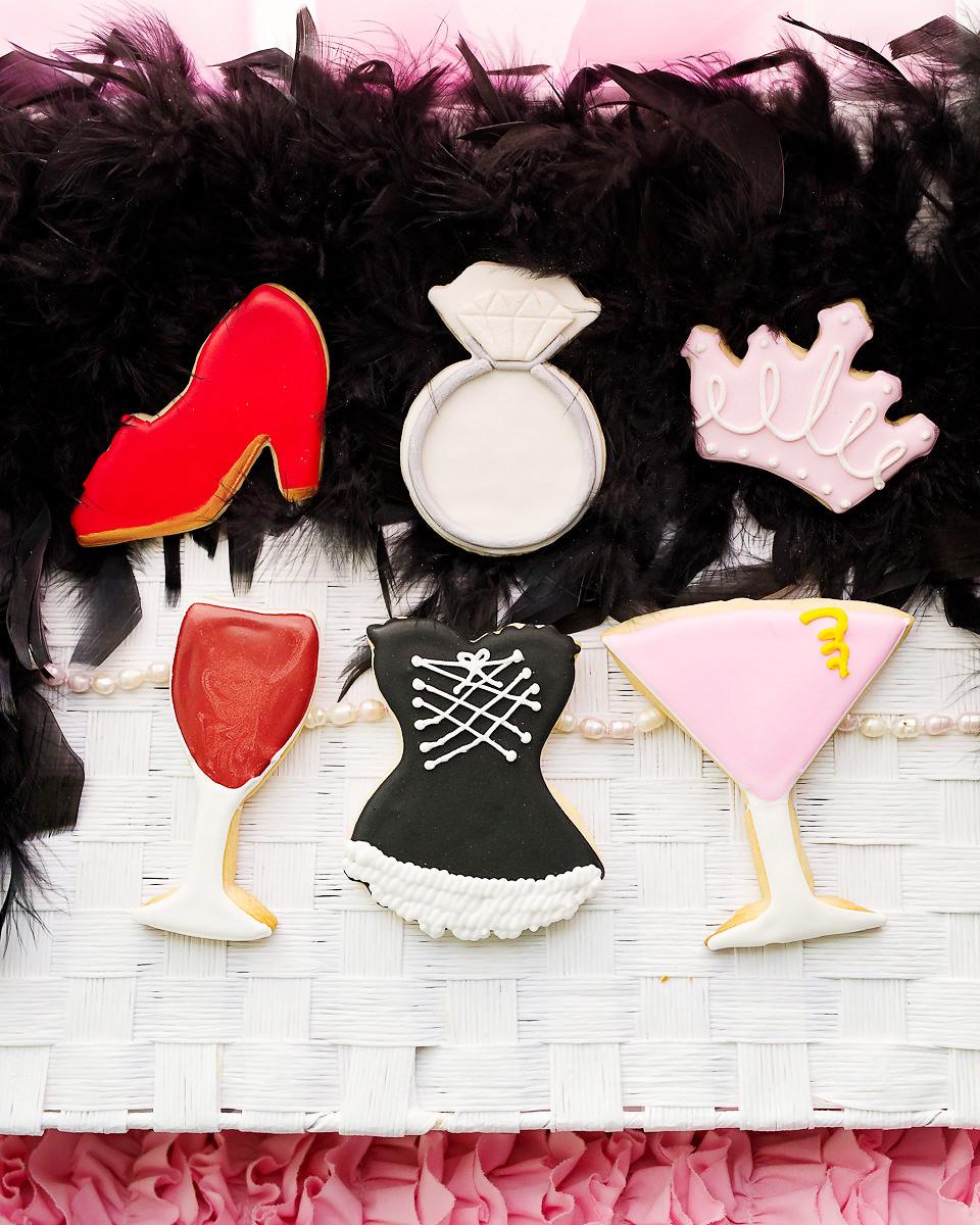 By AH -Set of 6 Cookie Cutters -GIRLS' NIGHT - Σετ 6 τεμ κουπ πατ Κοριτσίστικη Νυχτερινή Έξοδος