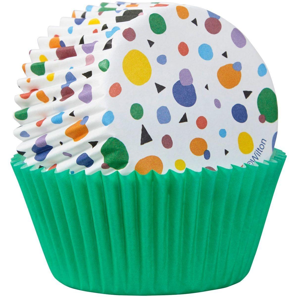 SALE!!! Wilton -Cupcake Cases -MAX DOTS TRIANGLES - Θήκες Ψησίματος Κουκκίδες και Τρίγωνα 75τεμ
