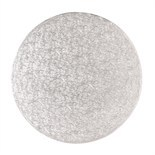 "Cake Drum ROUND Silver 13cm (5"") - Ασημένια Στρογγυλή Βάση 13εκ - Πάχος 1,3εκ"