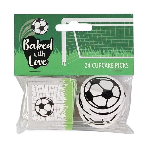 Baked With Love Cupcake Toppers -FOOTBALL -Τόπερ Ποδόσφαιρο -24τεμ