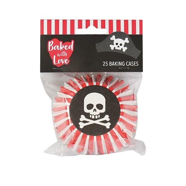 Baked With Love Baking Cases -PIRATE -Θήκες ψησίματος με πειρατικό θέμα 25 τεμ
