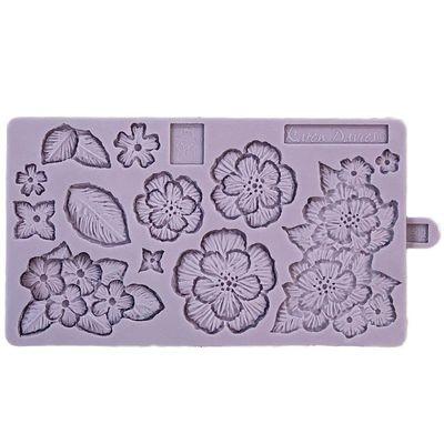 Karen Davies Silicone Mould -BRUSH EMBROIDERY -Καλούπι σιλικόνης Κεντητά Λουλούδια
