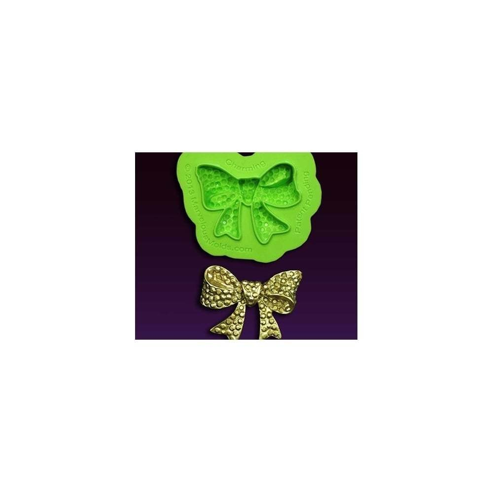 Marvelous Molds Silicone Mould By Marina Sousa -CHARMING BOW BROOCH -Καλούπι Φιόγκος Καρφίτσα