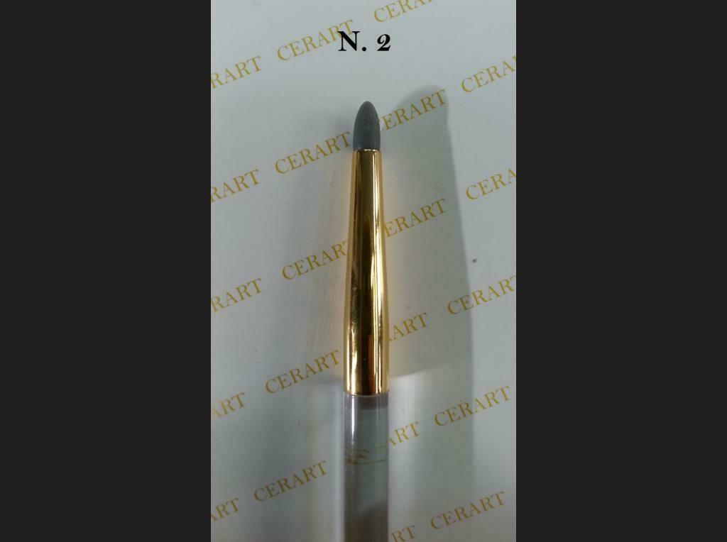 Cerart Round Tip Silicone Brush no.2 - Πινέλο σιλικόνης γκρι σκούρο, Νo. 2