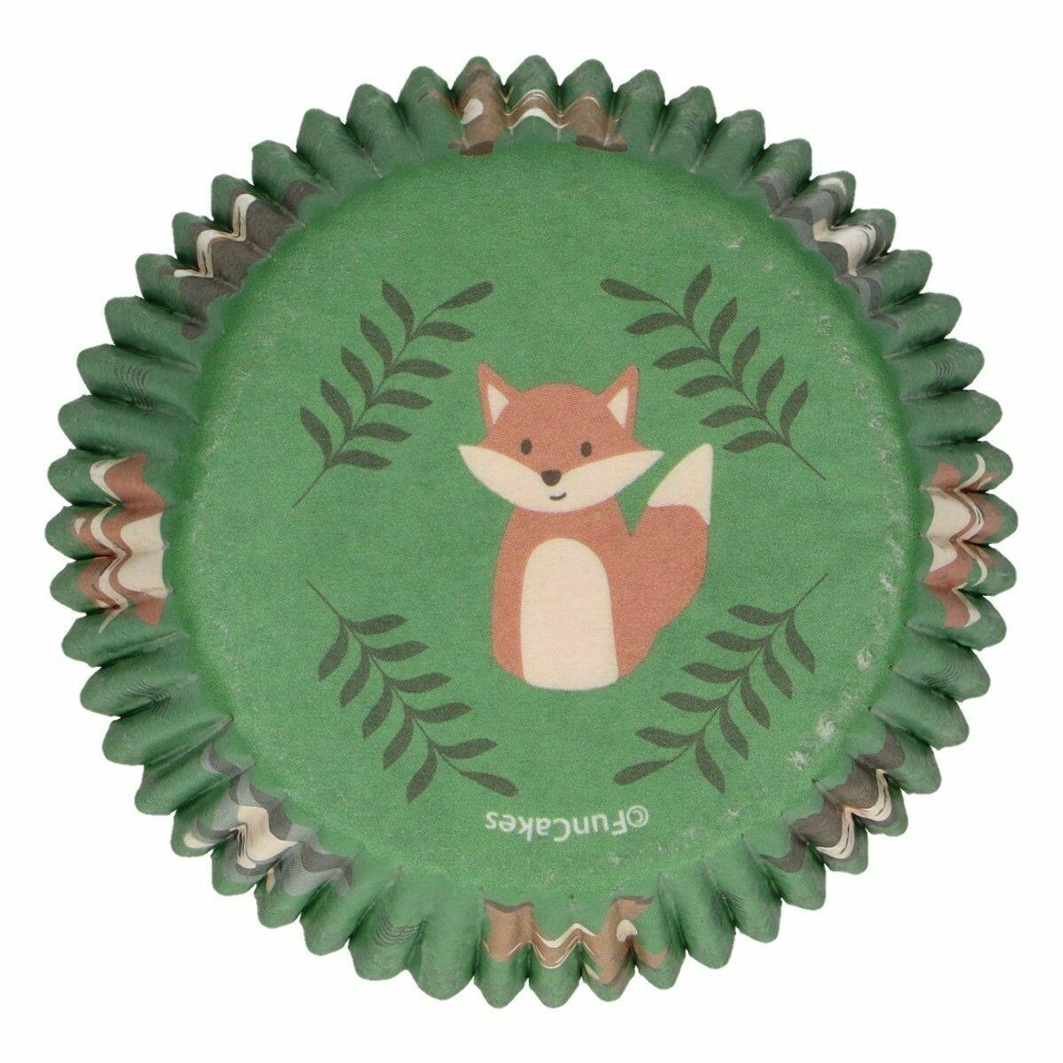 FunCakes Cupcake Cases -FOREST ANIMALS -Θήκες Ψησίματος -Ζωάκια του Δάσους -48 τεμ