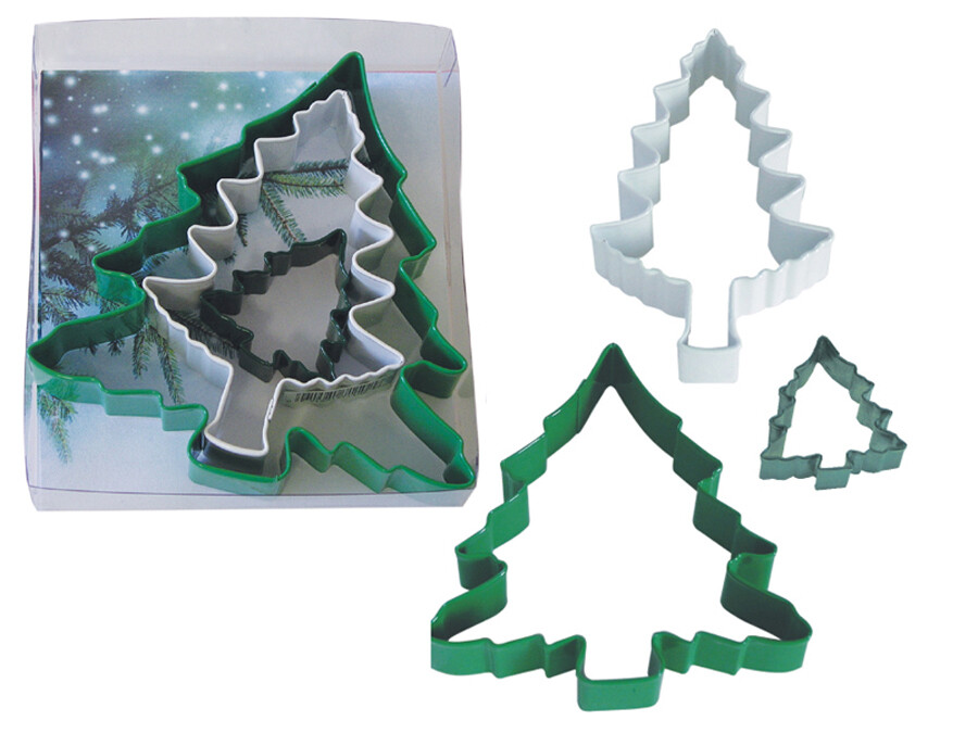 By AH -Set of 3 Cookie Cutters -CHRISTMAS TREES -Σετ 3 Κουπ πατ Χριστουγεννιάτικο Δέντρο