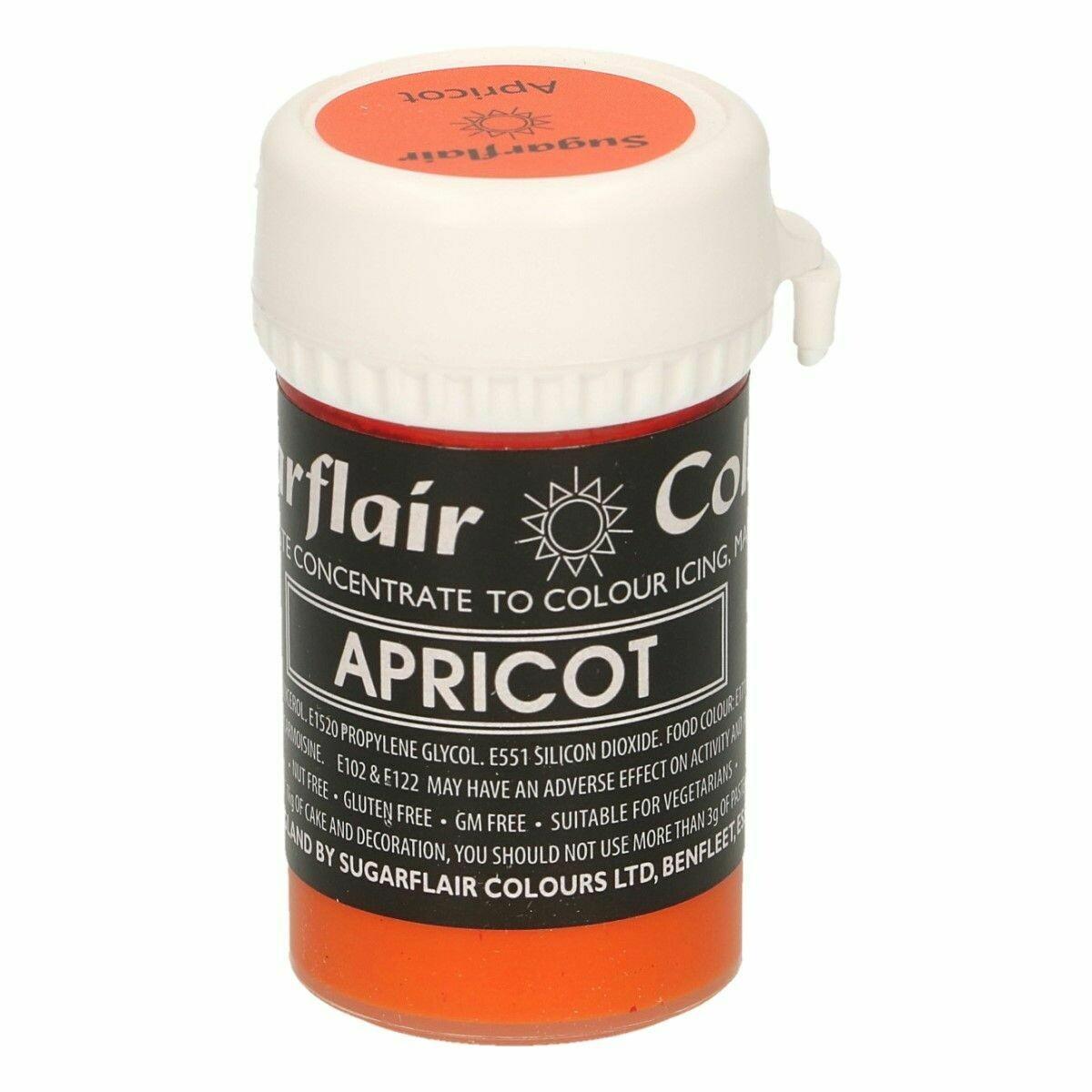 Sugarflair Paste Colours -PASTEL APRICOT -Χρώμα σε Πάστα -Παστέλ Βερικοκί