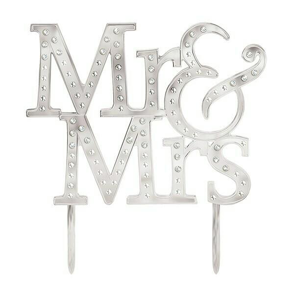 SALE!!! Cake Topper -Mr & Mrs - Τόπερ  'Mr & Mrs'