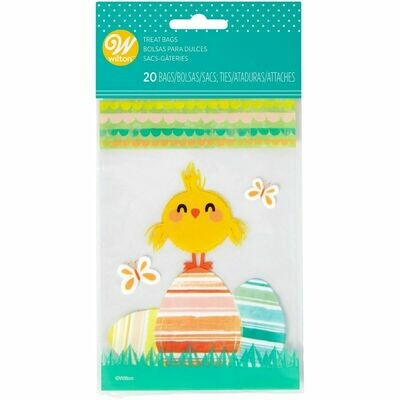 Wilton Easter MINI Treat Bags -CHICK -20τεμ σακουλάκια και συρματάκια για γλυκά & ζαχαρωτά Κοτοπουλάκι