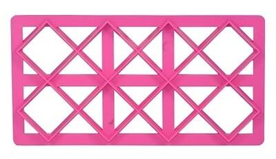 N.Y. Cake Embossing Tool -LARGE DIAMOND DESIGN -Εργαλείο για ανάγλυφο σχέδιο Μεγάλο Καπιτονέ/ Μεγάλο Διαμάντι με 'Πεταλούδες'