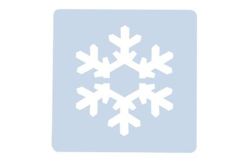Culpitt Stencil -SNOWFLAKE -Στένσιλ Χιονονιφάδα