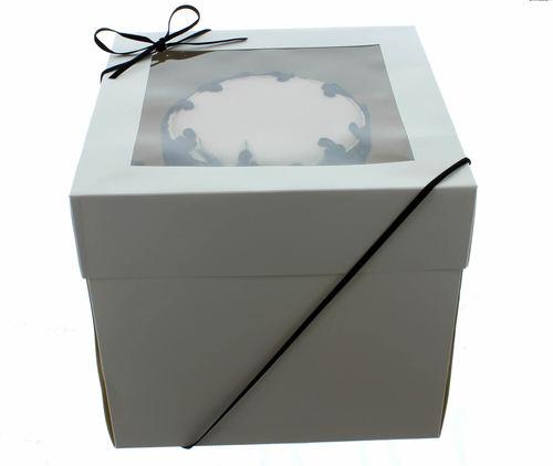 Extra Deep Cake Box With Window 40εκ- Βαθύ Κουτί με Διάφανο Καπάκι 40εκ με Ύψος 30εκ