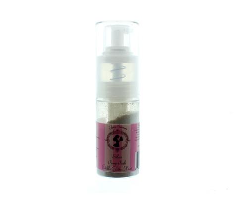 SALE!!! Claire Bowman Pump Spray Edible Glitter Dust -SILVER -Σπρέι Αντλίας Βρώσιμη Σκόνη Ασημένια 10γρ-ΑΝΑΛΩΣΗ ΚΑΤΑ ΠΡΟΤΙΜΗΣΗ 12/2021