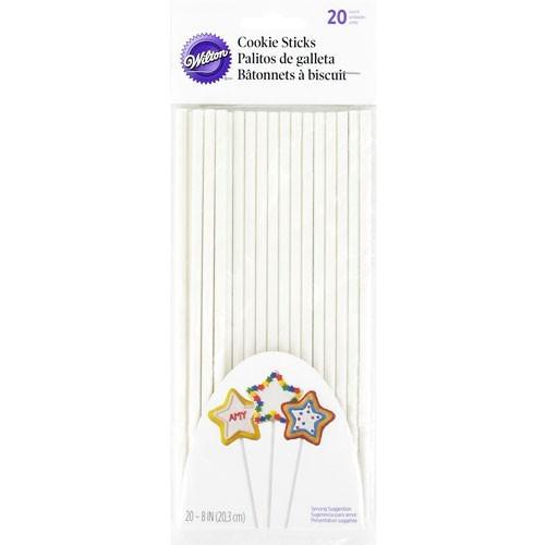 SALE!!! Wilton -Paper COOKIE STICKS 20cm -Χάρτινα ραβδάκια για μπισκότα 20εκ (20 τμχ)
