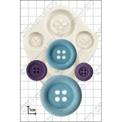 SALE!!! FPC -Silicone Mould -LARGE BUTTONS -Καλούπι Σιλικόνης Μεγάλα Κουμπιά