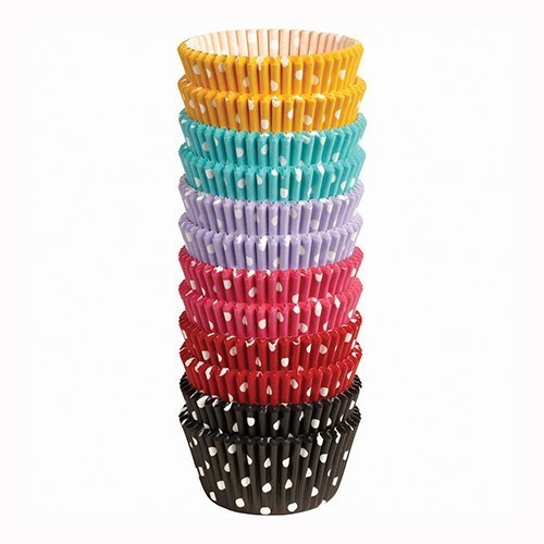 SALE!!!  Wilton -Cupcake Cases -Pack of 300 -POLKA DOT - Θήκες ψησίματος Πολύχρωμες πουά