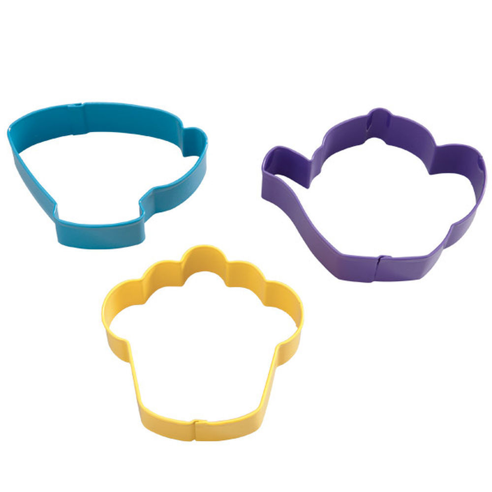 Wilton Cookie Cutter Set of 3 -TEA PARTY -Σετ 3τεμ Κουπ πατ Πάρτυ με Τσαΐ