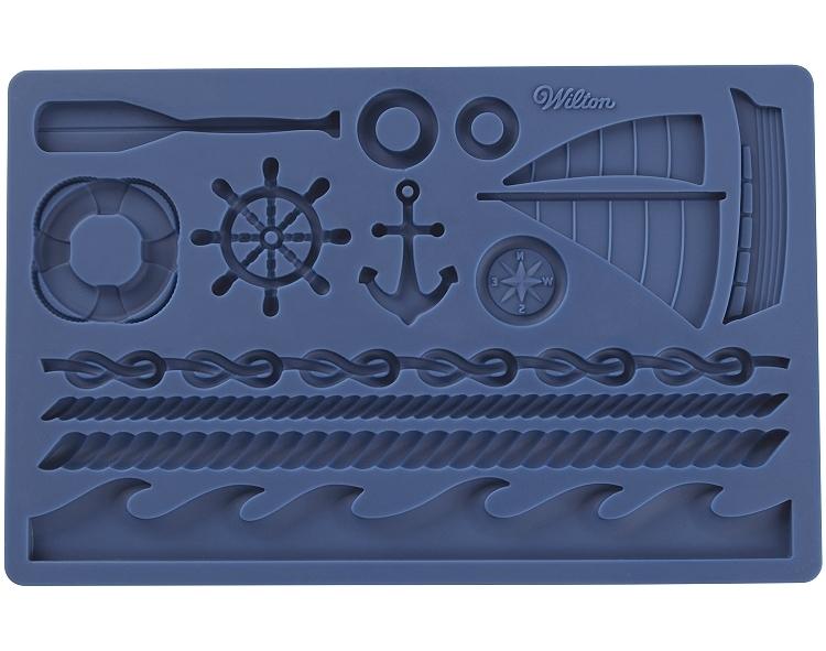 Wilton Silicone Mould -NAUTICAL - Καλούπι Σιλικόνης -Ναυτικά Σχέδια