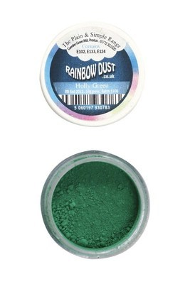 Rainbow Dust Edible Dust -Matt HOLLY GREEN -Βρώσιμη Σκόνη Ματ Χρώμα του Πρίνου