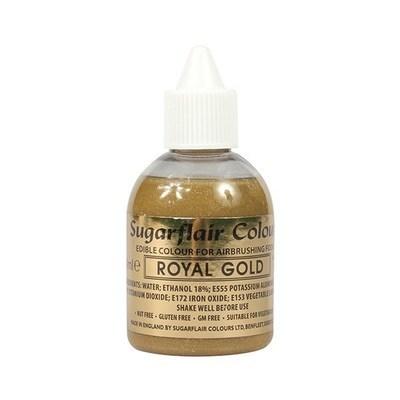 Sugarflair Airbrush Colour -ROYAL GOLD -Χρώμα Αερογράφου 60ml Βασιλικό Χρυσό