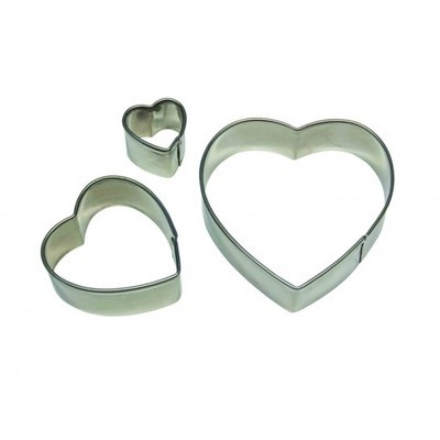 PME Geometric Basics -Set of 3 -HEART Cutters - Σετ 3τεμ κουπ πατ Βασική σειρά Καρδιές
