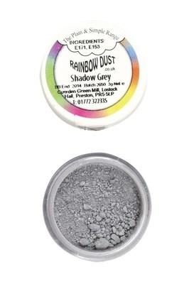 Rainbow Dust Edible Dust -Matt SHADOW GREY -Βρώσιμη Σκόνη Ματ Γκρι Σκιά