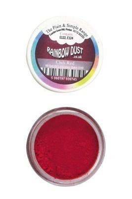 Rainbow Dust Edible Dust -Matt CHILLI RED -Βρώσιμη Σκόνη Ματ Κόκκινο Τσίλι