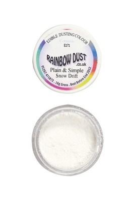 Rainbow Dust Edible Dust -Matt SNOW DRIFT -Βρώσιμη Σκόνη Ματ Λευκή Χιονοστιβάδα