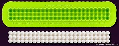 Marvelous Molds Silicone Mould -CAKE BORDER -CLASSIC PEARLS -Καλούπι Τριπλή Σειρά Πέρλες