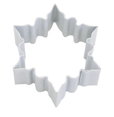By AH -Cookie Cutter -SNOWFLAKE -WHITE -SMALL - Κουπ πατ Μικρή Λευκή Χιονονιφάδα 7εκ