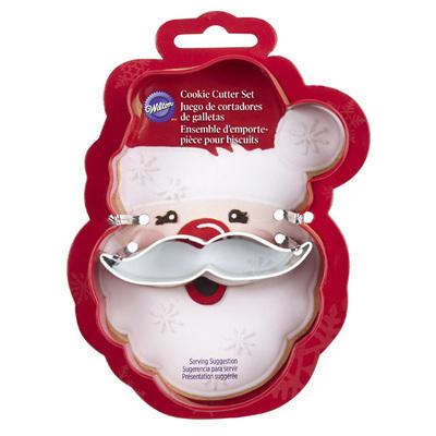 Wilton Christmas Metal Grippy Cutter -SANTA FACE & MUSTACHE -Κουπ πατ πρόσωπο Αγ. Βασίλη με μουστάκι